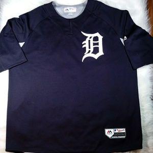 Majestic Mens Detroit Tigers Baseball Jersey 2XL